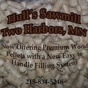 Hull's Sawmill Pellet Logo